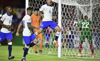 Coutinho comanda vitória do Brasil por 3 a 0 sobre a Bolívia