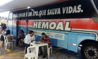Ônibus do Hemoal estará na UPA de Palmeira nesta quinta para arrecadar sangue