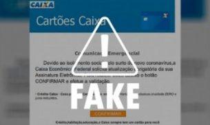 Caixa alerta que não está enviando e-mails com pedido de atualização de assinatura eletrônica