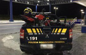 Polícia Rodoviária Federal prende condutor e apreende motocicleta adulterada
