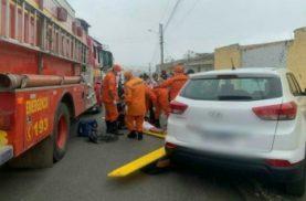 Colisão entre carro e moto deixa três pessoas feridas em Santana do Ipanema