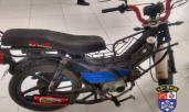 Moto com cano de escape alterado é detida pela polícia em Palmeira dos Índios.